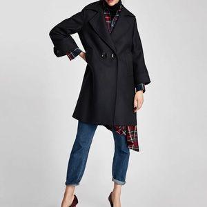 Zara Navy Coat